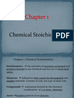 Chapter 1 - Chemical Stoichiometry