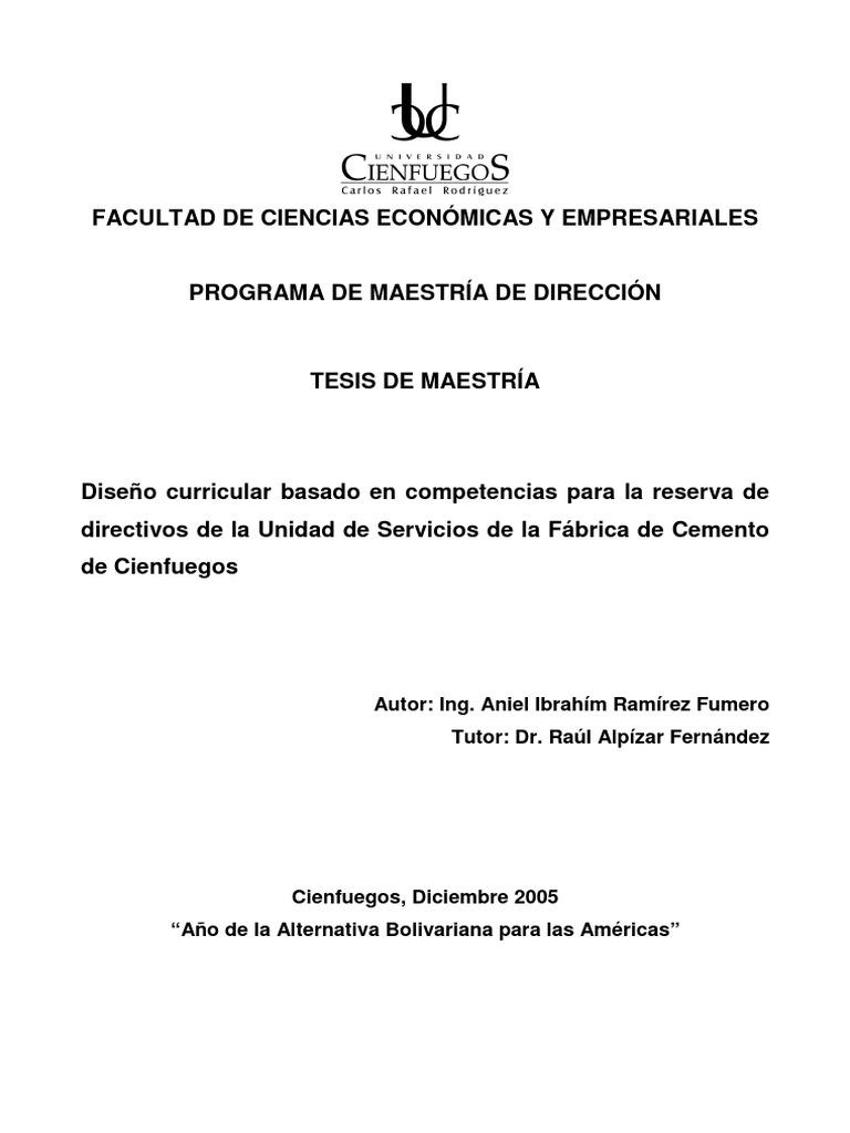 Diseño Curricular de Directivos