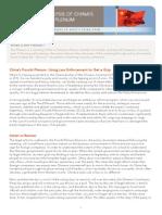 Analysis of China's Fourth Plenum