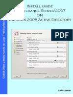Install Guide MS Exchange Server 2007 on Windows Server 2008 Active Directory v1.1