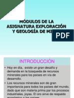 Modulos de la asignatura de exploracion y geologia de minas