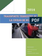 siste,a de Transporte terrestre de la ciudad de Huanuco