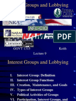 American Politics - Interest Groups -