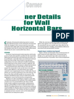 Corner Details for Wall Horizontal Bars
