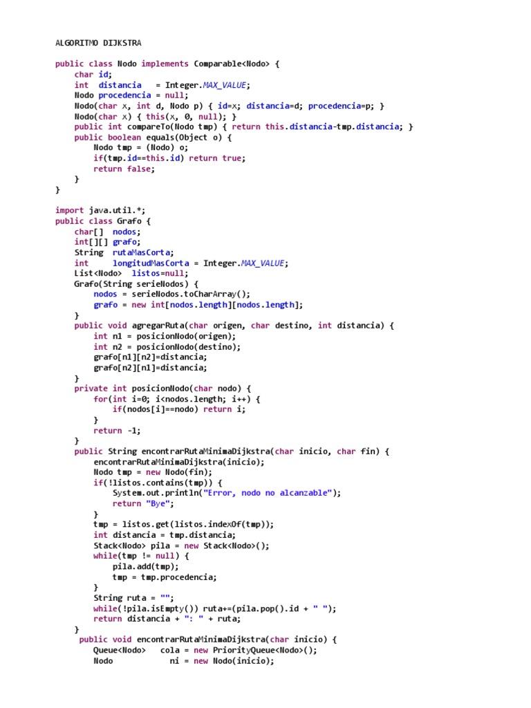 algoritmo dijkstra y floyd