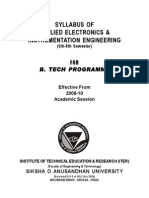 Applied Electronics & Instrumentation Engineering