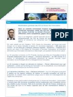 CCI France - Lettre Actualités Intelligence Economique & Innovation - Novembre 2014
