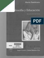 Filosofía y Educación, Manuscritos