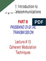 Lec13 Bandpass Modulation I