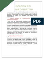 clasificasion de sistema operativo