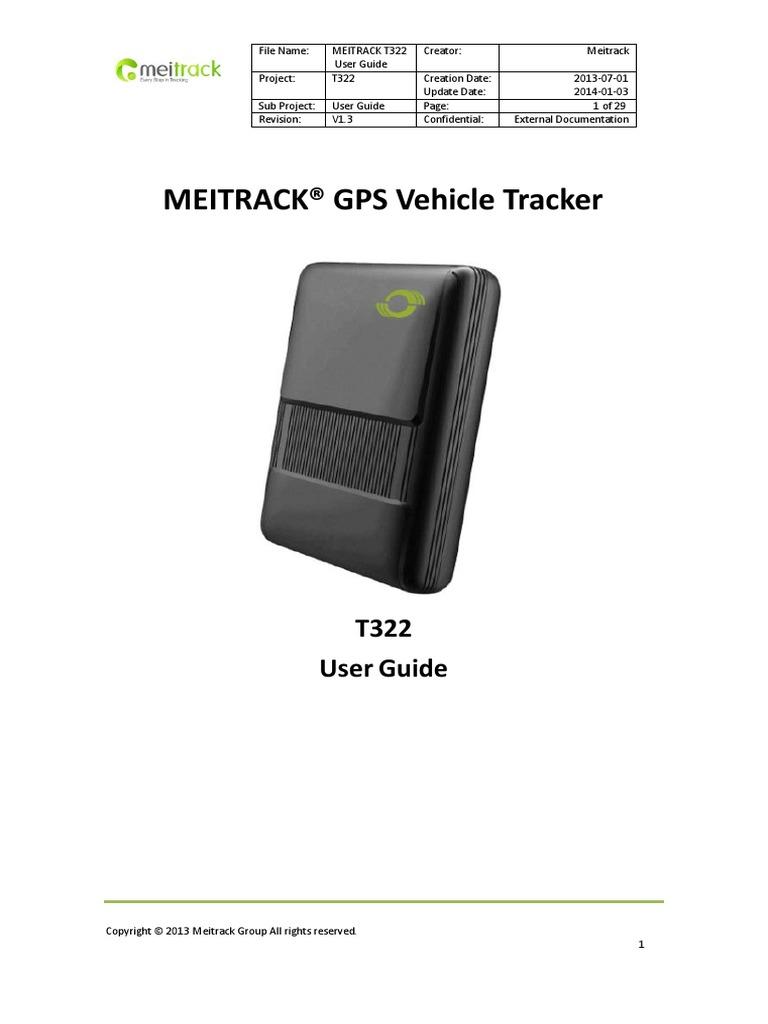 Meitrack t322 User Guide v1 3 | General Packet Radio Service