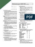 Tablas Referencia - D&D 3.5