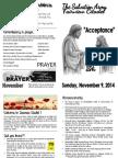 November 9, 2014 Bulletin