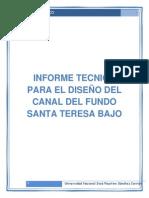 Canal Diseño Informe