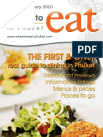 Where to Eat Phuket January - February 2010