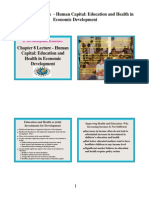 8Chapter8Lecture-HumanCapital-EducationandHealthinEconomicDevelopment