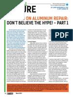 Warning on Aluminum Repair - Part 1