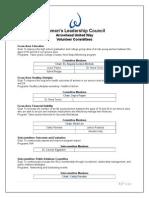 volunteer committees current