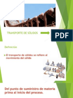 Definicion, Clasificacion, Importancia y Aplicacion de Transporte Sólidos