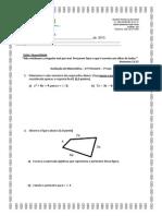 Avaliação de Matemática Do 7º Ano - 2º Trimestre