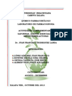Actividades Complementarias Saponinas, Aceites Esenciales, y Sesquiterpelactonas