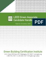 LEED Green Associate Candidate Handbook- November 2009