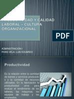 Productividad y Calidad Laboral – Cultura Organizacionalexpo