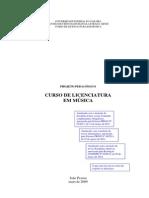 1 - PPC Lic. Em Musica UFPB 2009 - Atualizado Com Libras e Novos Instrumentos e Disciplinas