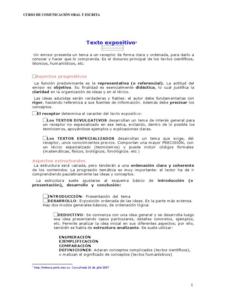 Texto Expositivo Y Argumentativo 1