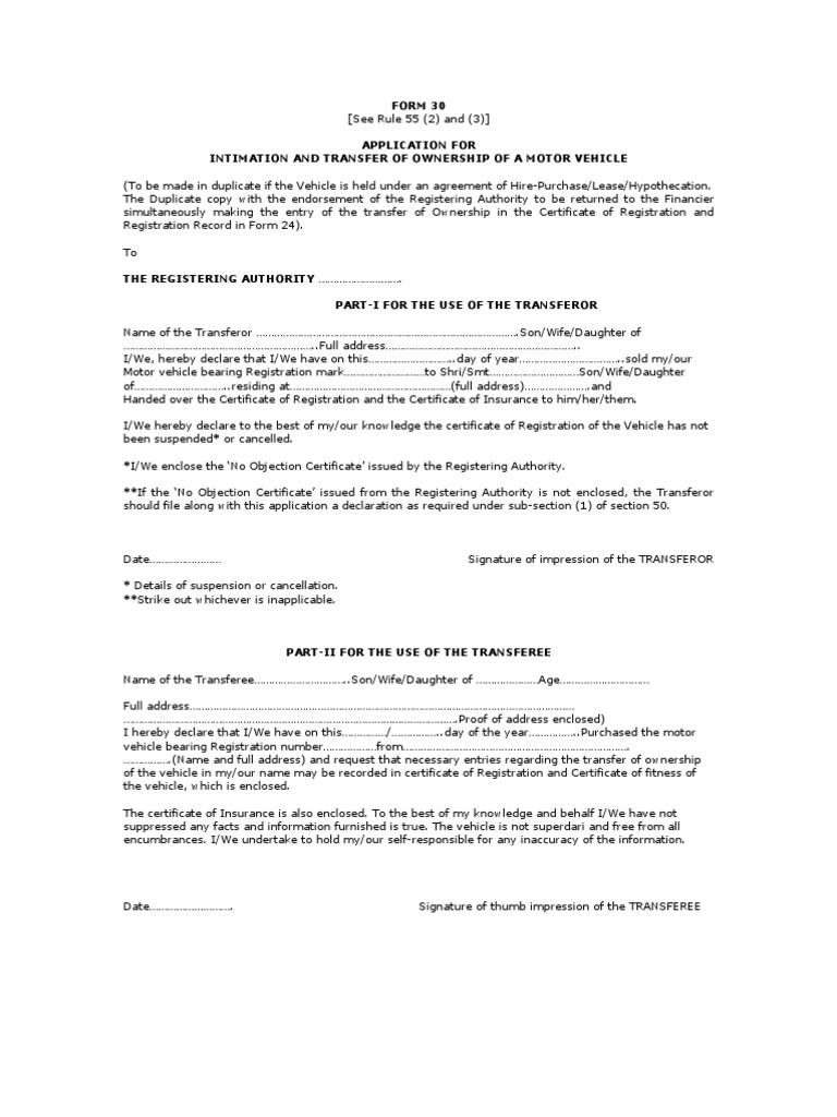 Form 30 rto crime justice justice altavistaventures Image collections