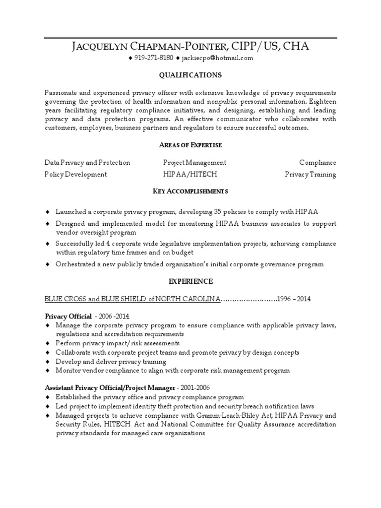 hippa compliance officer resume printing management specialist