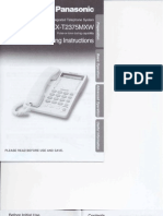 Panasonic Phone Manual KX-T2375MXW