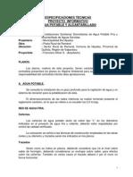 Especificaciones Tecnicas Agua y Alcantarillado Romeral