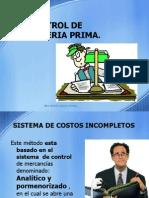 Costos - Control de Materia Prima