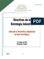 Estretegia Industrial MIEM 2008