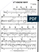 Dont Know Why Norah Jones Piano Sheet Music