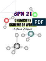 Chemistry - Scheme of Works (3 Years Program)