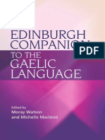The Edinburgh Companion to the Gaelic Language - M. Watson, M. Macleod (Edinburgh, 2010) BBS
