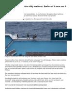 Costa Concordia cruise ship accident