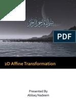 Computer Graphics 2D Affine Transformation