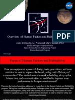 NASA Constellation Program Habitibility Factors