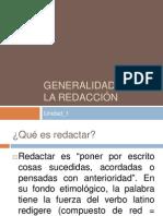 Generalidades de La Redaccion U 1