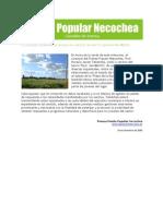 Gacetilla de Prensa del Frente Popular Necochea 09