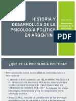 Historia y Desarrollos de Psicologia Politica