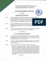 Reglamento de Grados y Títulos