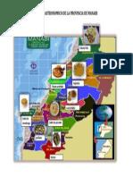 Mapa Gastronomico de La Provincia de Manabi