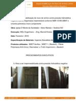 Especificação Impermeabilização Muro Arrimo