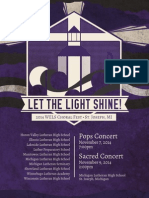 Let The Light Shine - WELS Choral Fest Program
