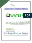 Business Communication Project Wateen