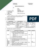 SESIÓN DE APRENDIZAJE N°12adicion y sustraccion